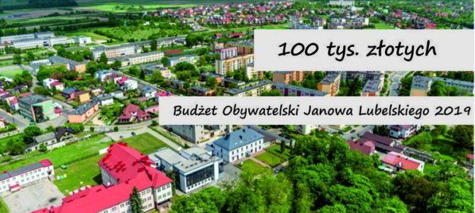 Zaproszenie do udziału w drugiej edycji Budżetu Obywatelskiego Miasta Janów Lubelski